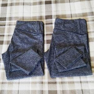 2 pairs Tuff Athletics Gray Legging full large